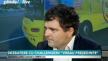 "Challengerii ""Vreau Preşedinte"", la Gândul LIVE"