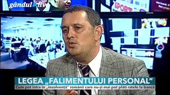 Gândul Live: Legea falimentului personal, apelul pe care îl face avocatul Gheorghe Piperea către preşedintele României