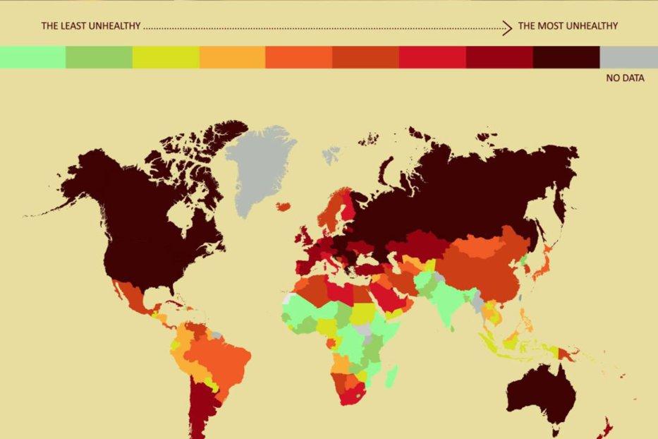 Care este ţara cu cei mai nesănătoşi oameni din lume. Unde se situează România