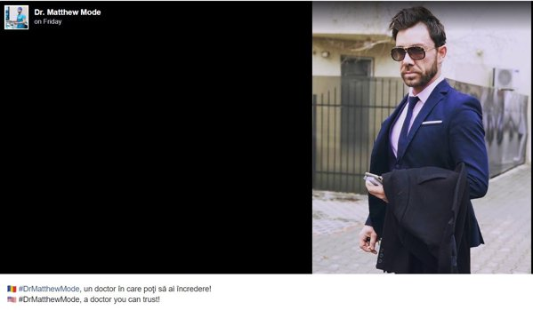 Cum își ademenea falsul chirurg clientela prin Facebook