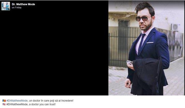 Pagina de Facebook pe care italianul își făcea reclamă