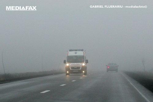 Cod galben de ceaţă în Bucureşti