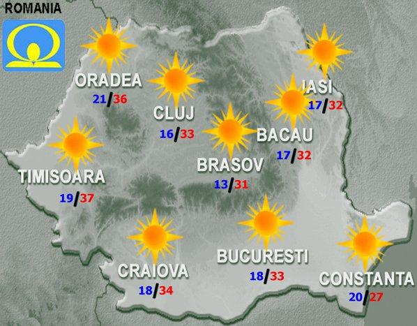 Un Nou Val De Căldură Lovește Romania Prognoza Meteo Pentru Luni