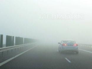 Cod galben de ceaţă în aproape jumătate din ţară