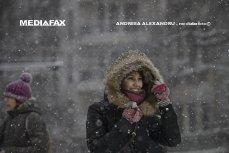 Alertă meteo de ninsori şi vânt puternic. Regiunile în care se va aşterne strat de zăpadă