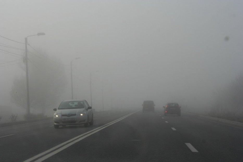 COD GALBEN de ceaţă în opt judeţe