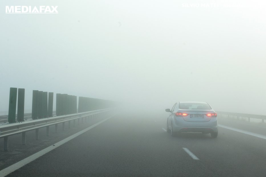 COD GALBEN de ceaţă în opt judeţe. Care sunt regiunile vizate