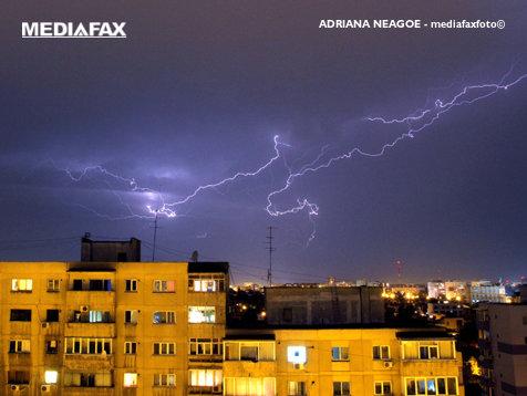 Atenţionare cod galben de ploi în Bucureşti şi alte opt judeţe
