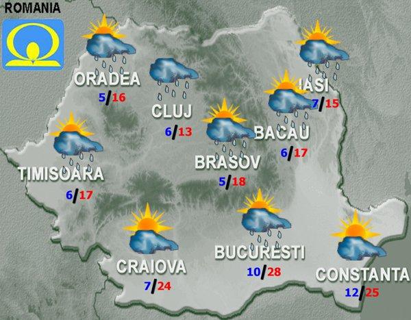 Meteorologii vertizează că vremea se răceşte şi va ploua