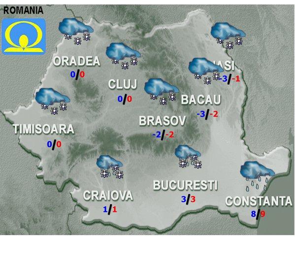 Harta meteo pentru 14.12.2018