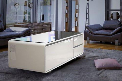 """Cea mai mare inovaţie pentru sufragerie. Cum arată şi ce ştie să facă cea mai """"deşteaptă"""" masă de cafea"""