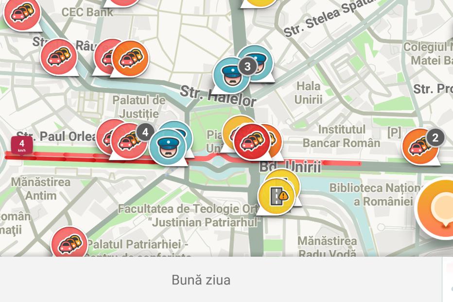 Cât de mult ajută Waze-ul la fluidizarea traficului din Capitală. Declaraţia ministrului Comunicaţiilor