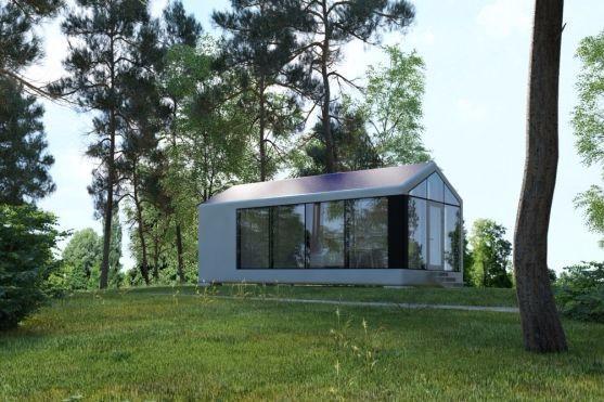 Foto. Aceasta este casa de vacanţă care poate fi construită de un robot în 8 ore. Cât costă