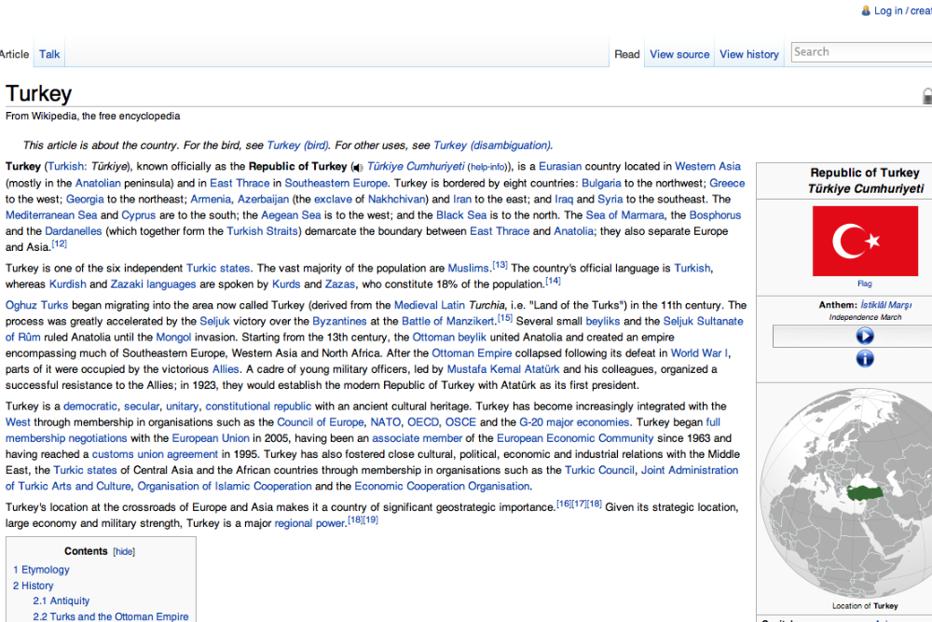 Turcia avertizează Wikipedia în privinţa conţinutului şi vrea să impoziteze site-ul