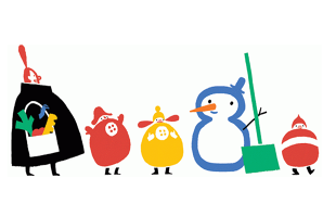 SOLSTIŢIUL DE IARNĂ. Google celebrează SOLSTIŢIUL DE IARNĂ printr-un Google Doodle