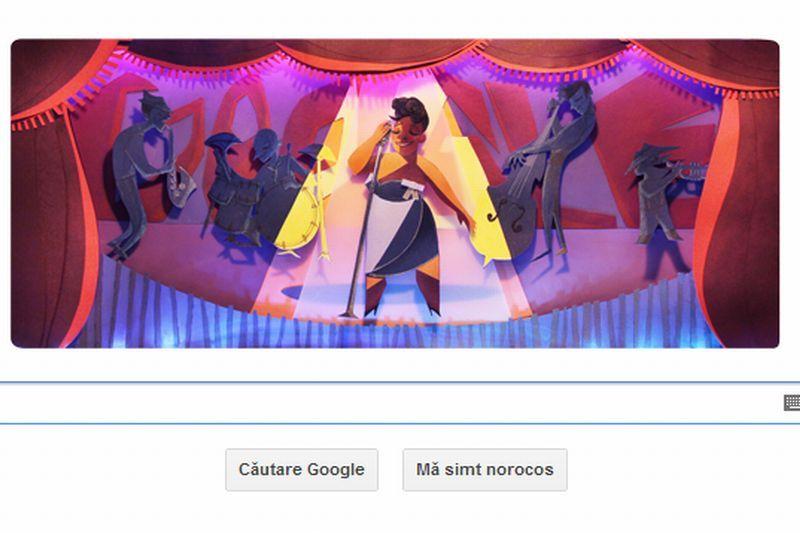 ELLA FITZGERALD, omagiată astăzi de Google printr-un Doodle. ELLA FITZGERALD, prima doamnă a cântecului. VIDEO