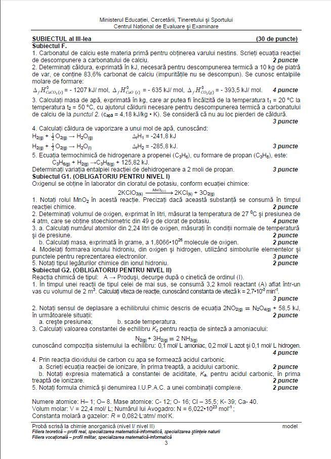 variante bac chimie anorganica 2013