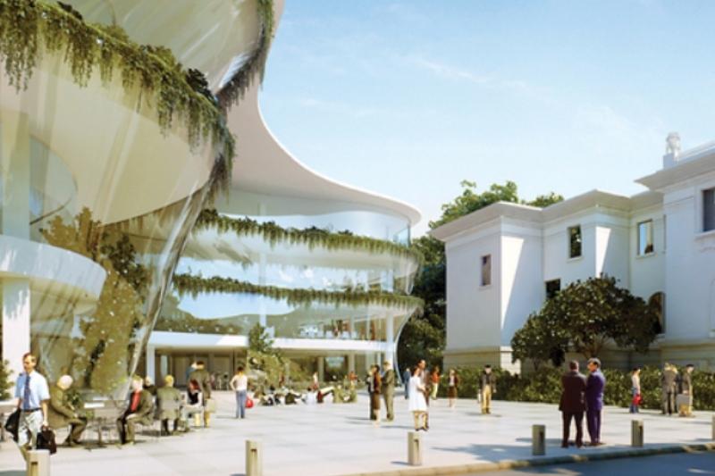 Cum va arăta Piaţa Victoriei în 2015. Vila Oromolu, salvată prin construcţia unei clădiri de birouri proiectate de arhitectul Dorin Ştefan. GALERIE FOTO