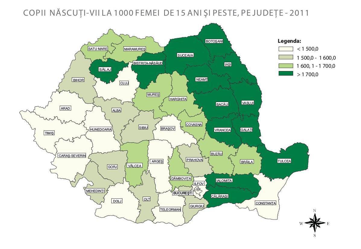 Harta Mamelor Din Romania Județ Cu Județ Pe Axa Vaslui