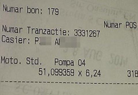 """Un şofer şi-a făcut plinul la o benzinărie din Cluj. Nu i-a venit să creadă ce a văzut pe bonul de plată. """"Am sunat imediat la Poliţie"""""""