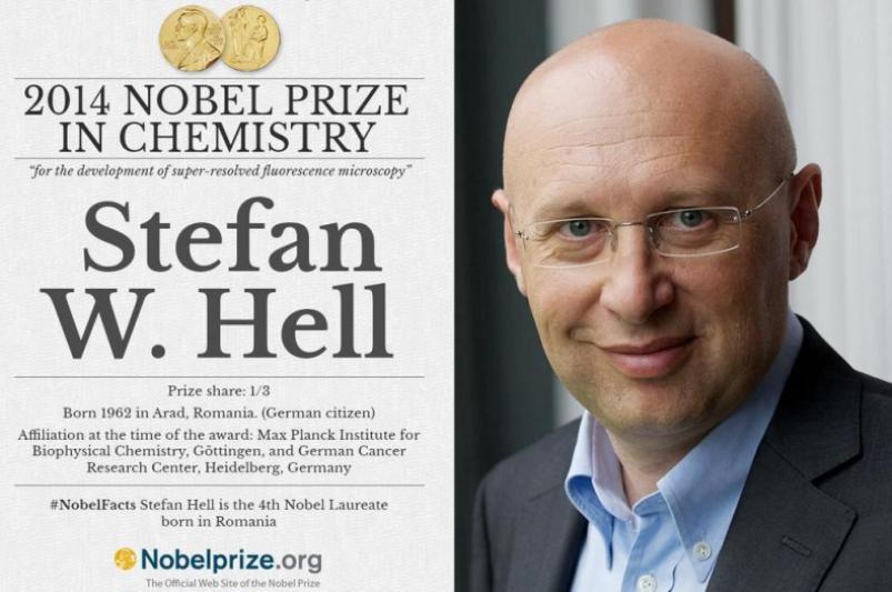 NOBEL 2014. Premiul Nobel pentru chimie, CÂŞTIGAT DE UN CERCETĂTOR DE ORIGINE ROMÂNĂ - Stefan W. Hell