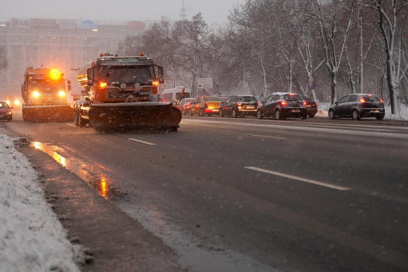 Drumuri cu circulatie blocata sau �ngreunata. Accident �n lant pe Bucuresti-Alexandria