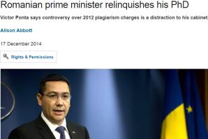 Este LOVITURA DE TEATRU a sfârşitului de an. Ce a apărut azi în presa internaţională despre PLAGIATUL lui Victor Ponta