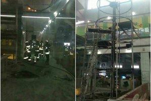 Incendiu la un mall din Arad. Zeci de persoane evacuate