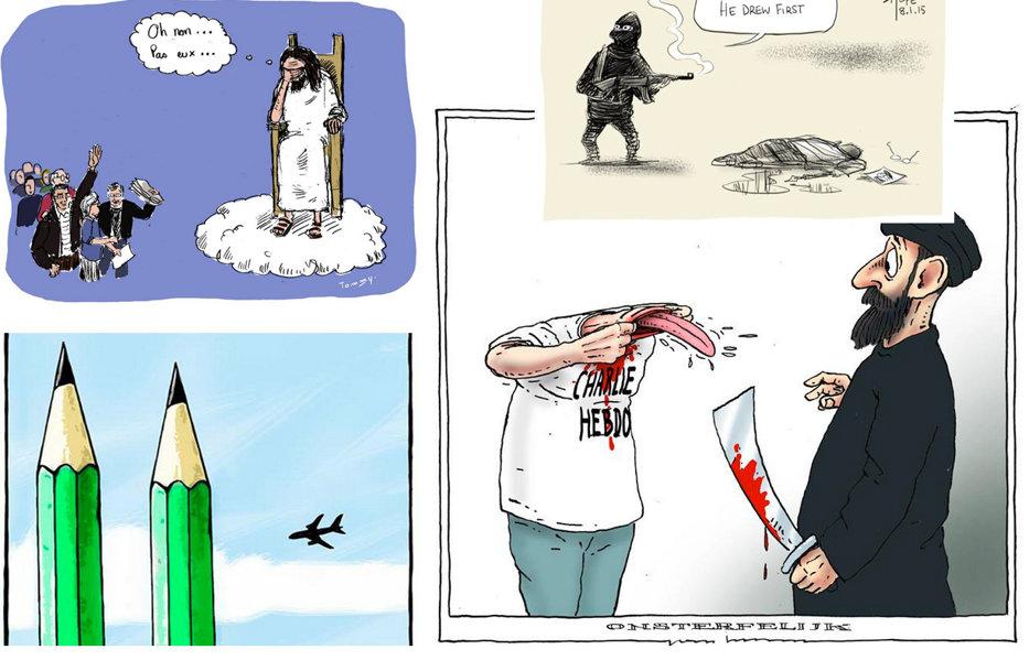 20 de caricaturi-omagiu pentru victimele atentatului de la Charlie Hebdo