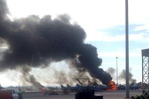 Un avion F-16 s-a prăbuşit într-o bază NATO în Spania: 10 morţi