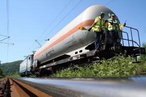 Un tren de marfă a deraiat în Alba