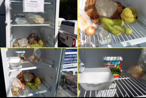 Cum au reacţionat oamenii când au văzut frigiderul cu mâncare GRATUITĂ. Când şi unde vor apărea următoarele