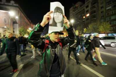 """GALERIE FOTO. Protest #Colectiv în București: Peste 20.000 de oameni în stradă. După ce au strigat """"Demisia! Demisia"""