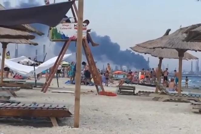 Explozie la Rafinăria Petromidia: patru oameni au fost răniţi. Plan roşu de intervenţie, activat