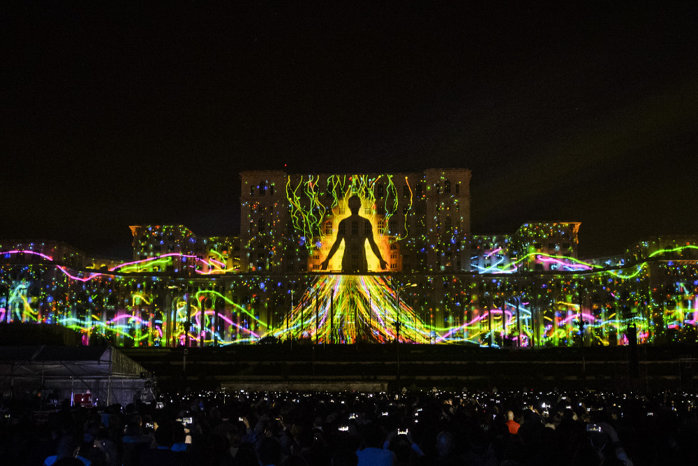 Spectacol impresionant în Bucureşti