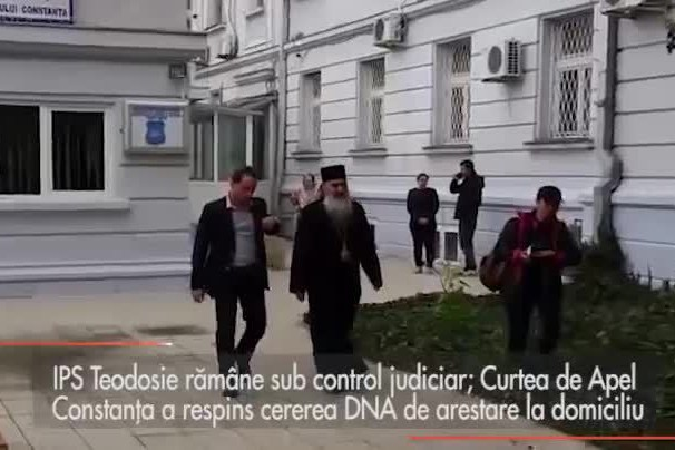 IPS Teodosie rămâne sub control judiciar: Curtea de Apel Constanţa a respins cererea DNA de arestare la domiciliu
