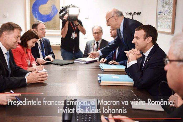 Emmanuel Macron va vizita România