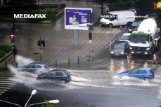 Furtunile din România, în imagini: inundaţii, copaci căzuţi, drumuri blocate