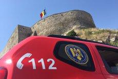 Intervenţie spectaculoasă pentru salvarea a 17 turişti blocaţi în telecabina de la Cetatea Devei. FOTO şi VIDEO