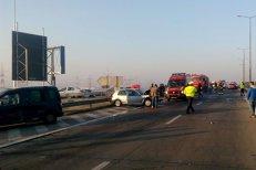 Accident pe Autostrada Soarelui. Circulaţia rutieră a fost oprită