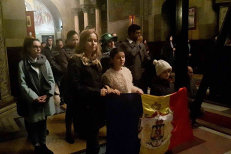 Momente emoţionante la Cluj: Rugăciuni pentru Regele Mihai I, după anunţul trist făcut de Casa Regală a României