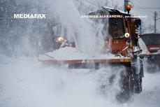 Viscol în Bucegi. Zăpada troienită măsoară peste un metru