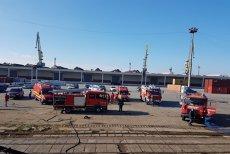 Incendiu în Portul Constanţa Sud-Agigea. Trei persoane au avut nevoie de îngrijiri medicale