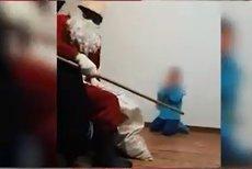 Imagini revoltătoare. Un copil din Bistriţa, ameninţat de un bărbat deghizat în Moş Nicolae, sub privirile mamei care filma momentul