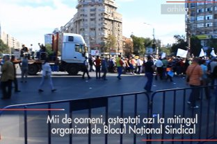 Mii de oameni, aşteptaţi la mitingul Blocului Naţional Sindical