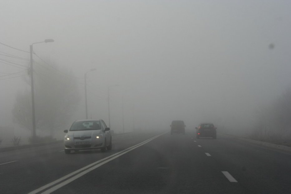 Cod galben de ceaţă în jumătate de ţară. Care sunt zonele afectate