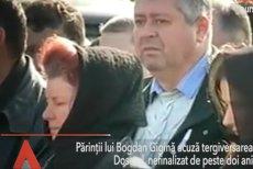 Părinţii poliţistului Bogdan Gigină acuză tergiversarea dosarului, nefinalizat de doi ani