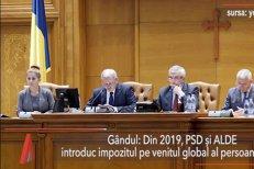Impozitul pe venitul global revine. PSD şi ALDE introduc noua taxă din 2019