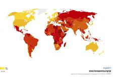 Cât de mare este corupţia în România. Hartă şi raport detaliat al Transparency International