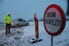 Lista cu cele două autostrăzi şi 21 de drumuri naţionale din România închise din cauza vremii nefavorabile